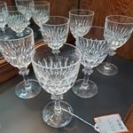 1-31411 Vintage Etched Stemware Glasses (6)