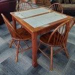 1-31998 Table w/ 4 Chairs Ceramic Insert (2 Leaves)