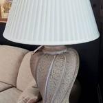 1-30823 Large Beige Ceramic Lamp
