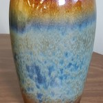 1-31830 Ceramic Blue and Brown Vase