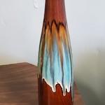 1-30892 Brown/Blue Thin Vase