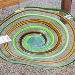 1-31837 Large Green Glass Decor