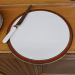 1-21930 Royal Dalton Ribbon Cake Plate and Knife