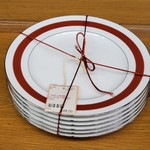 1-22232 6 Ralph Lauren Normandy Crimson Plates