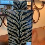 1-32448 Zebra Print Large Jar w/ Lid