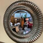 "1-32369 Large Round Mirror, Brushed Gold (45"")"