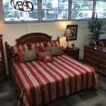 1-32569 Lexington Bedroom Set--King Headboard. Armoire, Dresser w/ Mirror, Nightstand