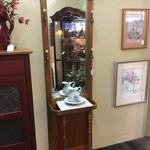 1-32673 Tall Oak Hall Tree w/ Mirror