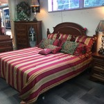 1-32795 Lexington Bedroom Set- King Headboard, Nightstand,  Chest w/ Mirror, Armoire