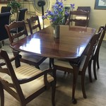 1-32739 PA House Traditional Table w/ 6 Chairs, 2 Leaves and Pads