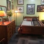 1-32815 Rustic Pine Bedroom Set, Full Headboard, Footboard, Dresser w/ Mirror, Nightstand