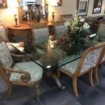 1-32741 Henredon Glass Top Table w/ 8 Chairs