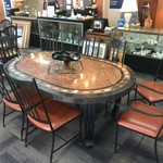 1-32801 Large Oval table w/ 8 Chairs