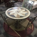 1-32850 Stone Table w/ 4 Chairs