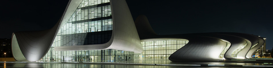 The Heydar Aliyev Center by Night