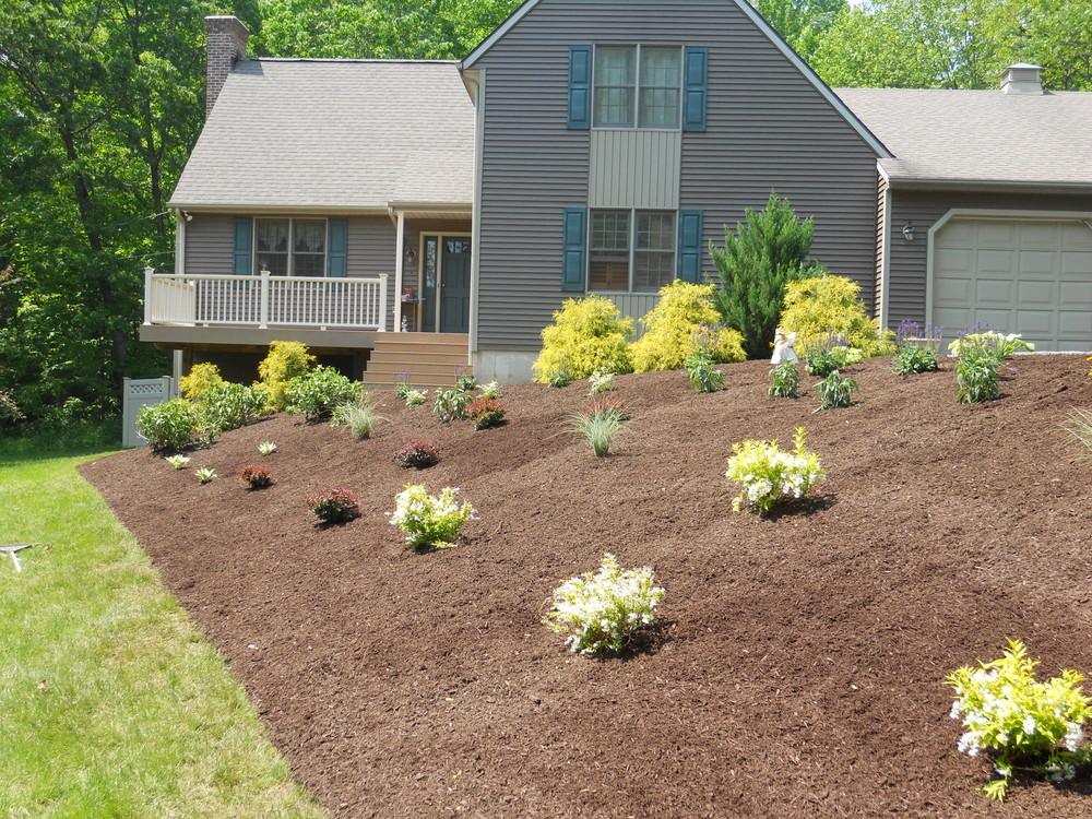 Residential commercial landscape design in glastonbury for Commercial landscape design