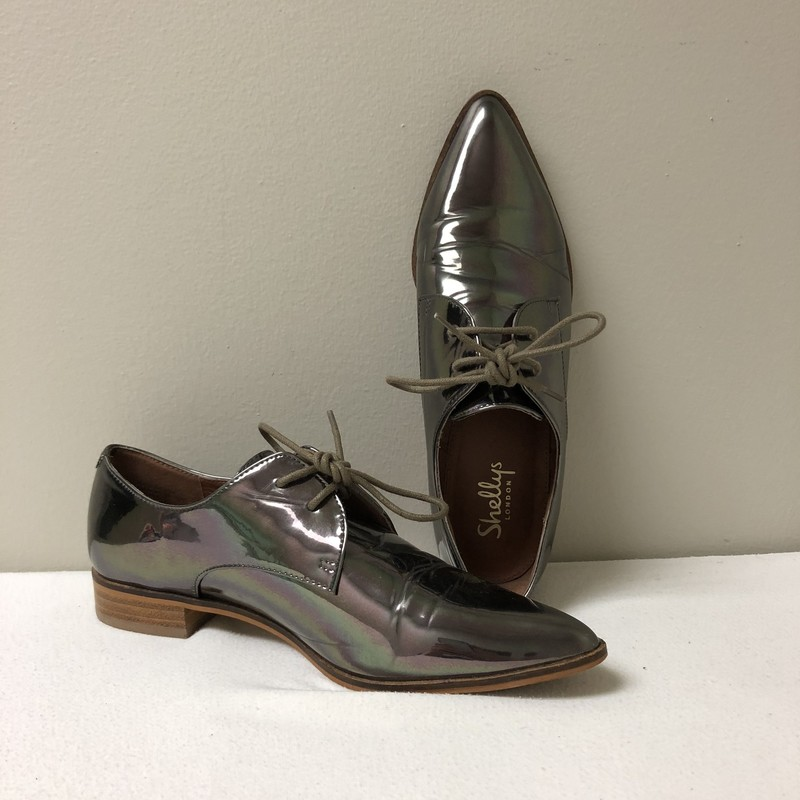 Shellys Patent Leather Oxford<br /> Size 39<br /> Metallic<br /> $47.00
