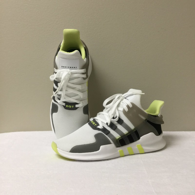 Adidas EQT Sneaker NWT<br /> Size 7.5<br /> White/Grey/Lime<br /> $56.00