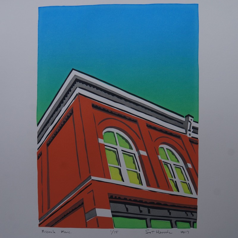 hand pulled, four color silkscreen on 90lb rag paper.  Edition of 12.  Buyer will receive the next print in the edition.
