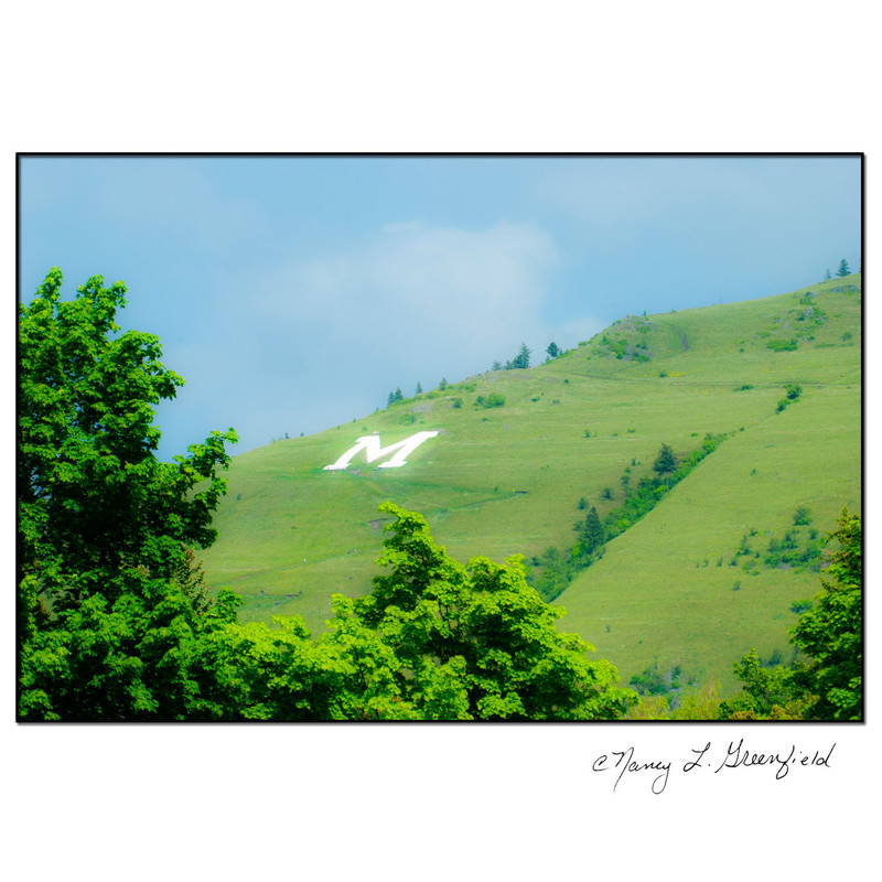 The M Trail on Mount Sentinel in Missoula Montana<br /> 11x14 matted in white.<br /> Shipping included.