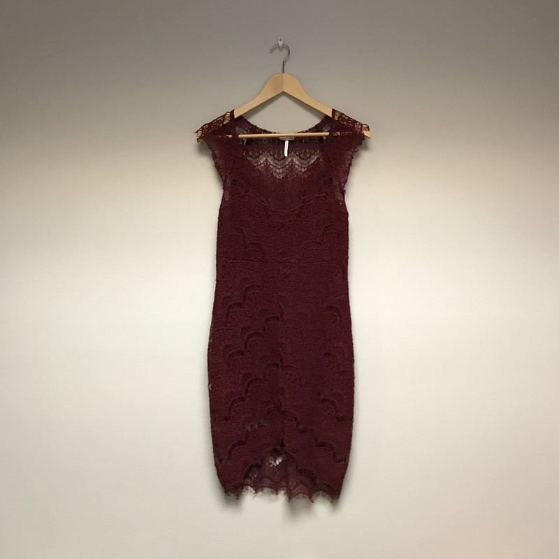 Free People Lace Dress<br /> Size Small<br /> Merlot<br /> $39.00