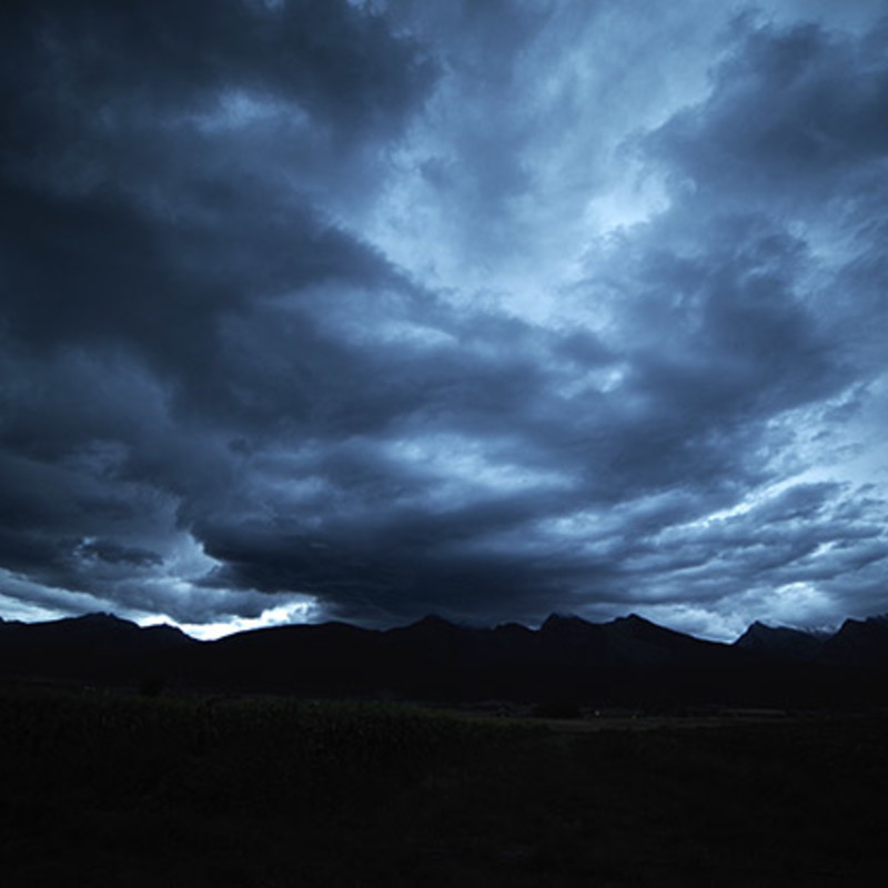 Heavy Storm.clouds dark blue Size: Matted 12x16 print photography