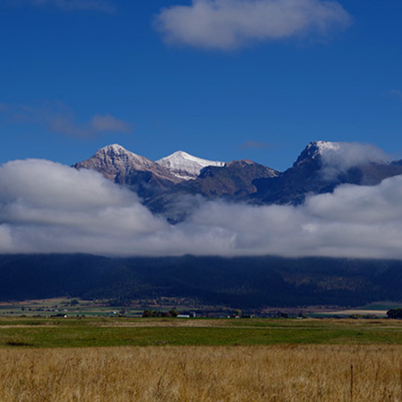 Mission Fog Mission Mountains, Montana.  Size: Matted 12x16 print photography
