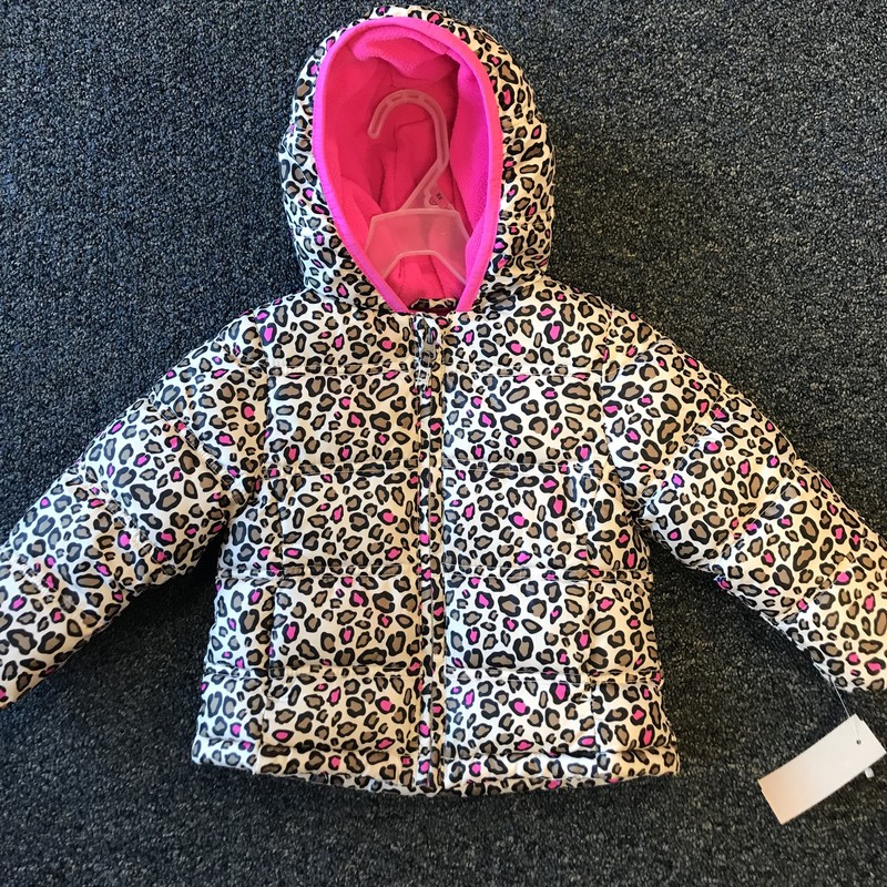 Hooded Winter Coat w/cheetah print in excellent condition, Size 18 months.  NO SHIPPING-in store pick up only.
