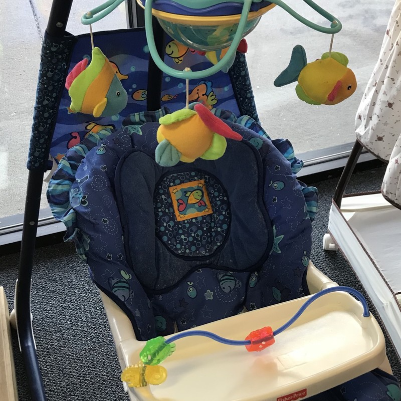 Fisher Price Cradle Swing/ Aquarium, good condition, swings in both directions, has music, mobile.  NO SHIPPING-in store pick up only