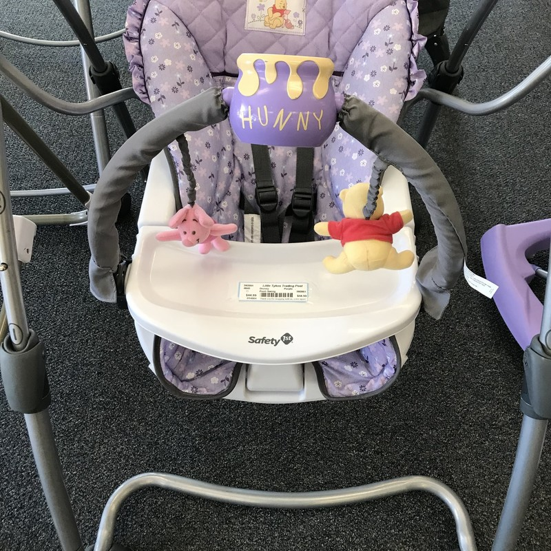 Disney Winnie the Pooh Swing in great sonc=dition, battery operated, plays music too.  Adjustable height. NO SHIPPING-in store pick up only