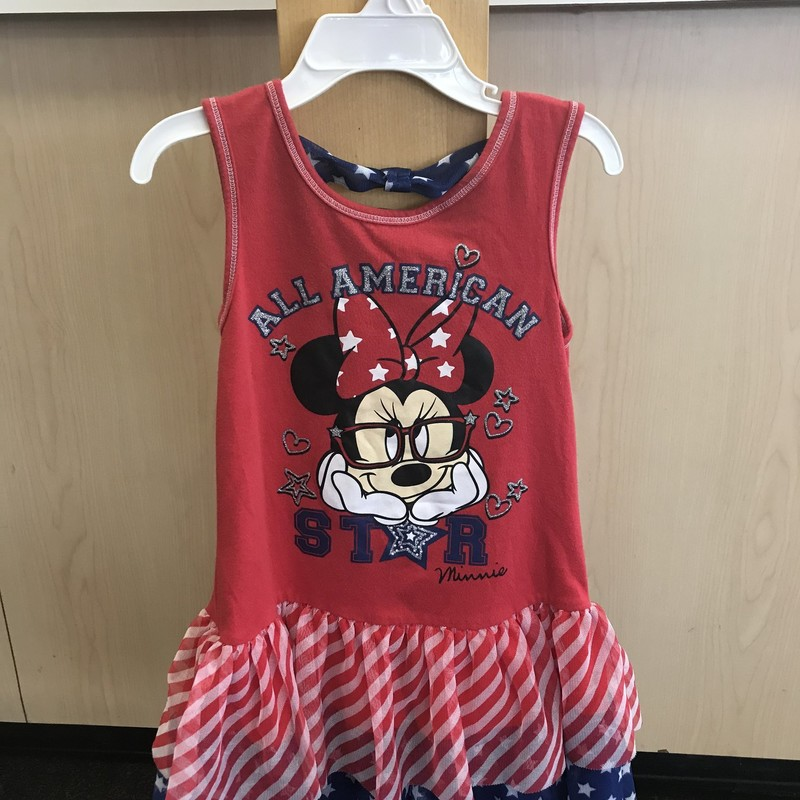 Disney Slvlss Dress w/Minnie, excellent condition and great for the 4th of July with the red, white and blue colors. Size 6/6x.  Pick up in store to save on shipping costs