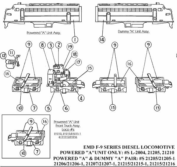 American Flyer EMD F-9 Series Streamlined Locomotive