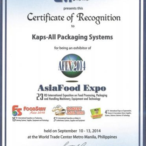 Kaps-All Exibits at the 2014 Asia Food Expo