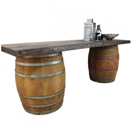 Building an outdoor bar with old wine barrels need some for Diy whiskey barrel bar
