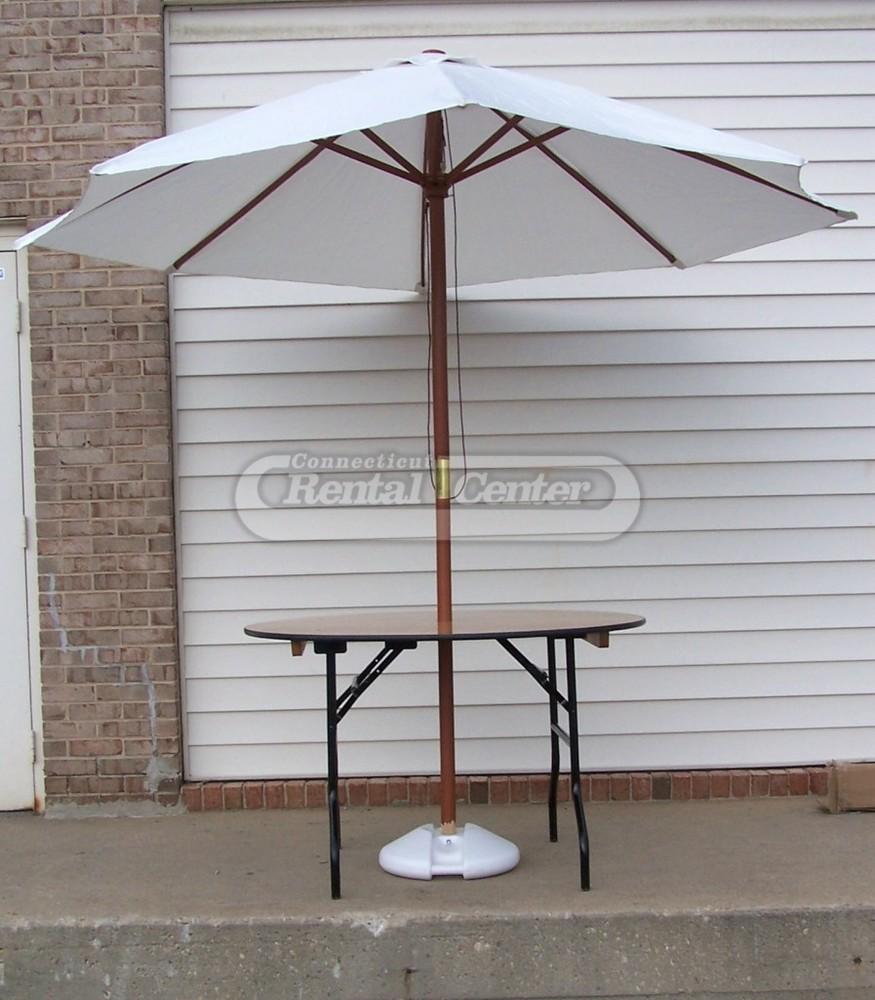 """Patio Umbrella Rental: Rent 48"""" Umbrella Table With Market Umbrella From CT"""