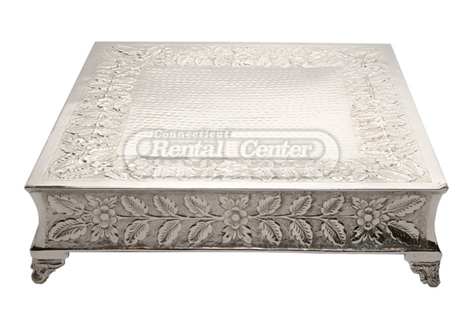 """Rent 22"""" Silver Square Cake Stands from CT Rental Center"""
