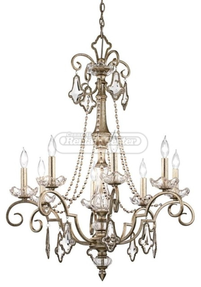 Rent Large Crystal Chandelier from CT Rental Center