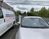 Electric Car Charging Station Installed by CT Electric Car