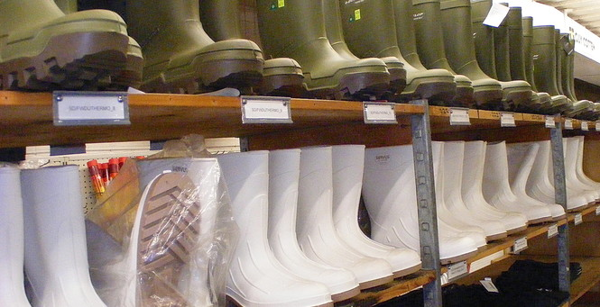 RIE stocks a full line of everyday supplies for our commercial customers, including foul weather gear, boots and gloves.