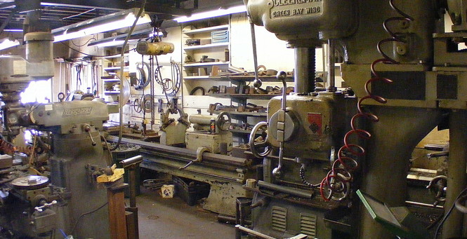 The machine shop where longtime employee Pete Hanson has worked since 1964