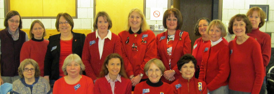 Wearing Red for Women's Heart Health Month